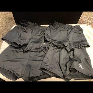 Women's spandex volleyball shorts mizuno lot of 4